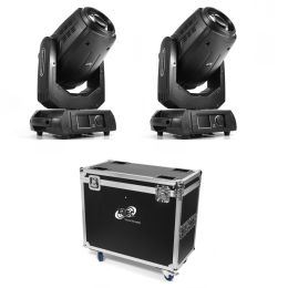 ETEC Pro Beam 280 Hybrid Moving Head Set with Flightcase